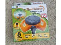 Stretch hose multipurpose sprinkler