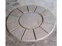 Patio Circle Riven Wavy Edge