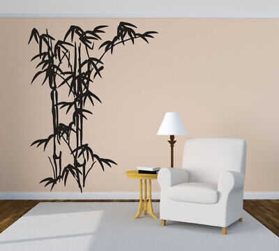 Bamboo Wall Sticker - Wall Sticker Bamboo Tree Leaves Nature Branches Mural Decal Decor ZX782