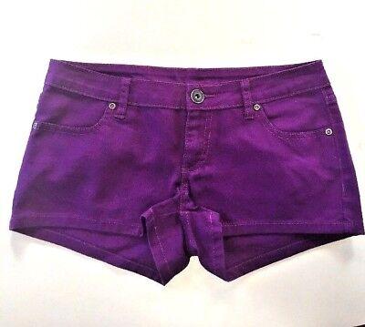 City Streets  Sz 5 NWOT Purple Short Short Booty Shorts  S-20 - Purple Booty Shorts