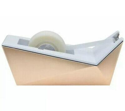 Scotch Desktop Tape Dispenser Metallic Gold White 1 Core - Refillable