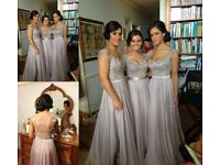 Size 16, Silver Bridesmaid/party dress