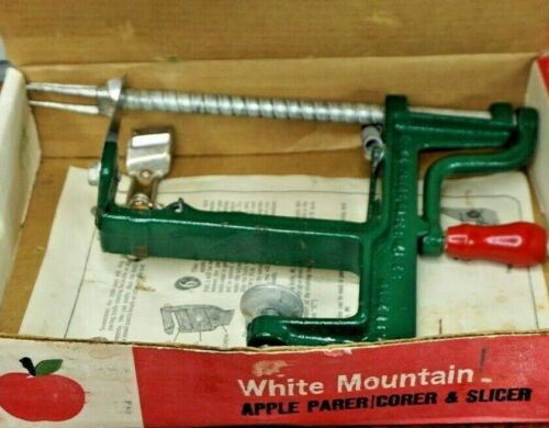 Vintage White Mountain Apple Parer, Corer & Slicer Made in the USA Complete CIB