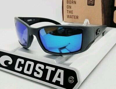 580G - COSTA DEL MAR matte gray/blue mirror BLACKFIN POLARIZED sunglasses! NEW!
