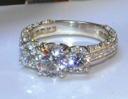 Solid 14k White Gold 2.48ct Round Solitaire Diamond Engagement Ring