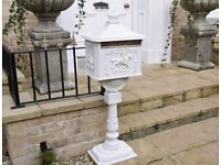 Cast aluminium post box new
