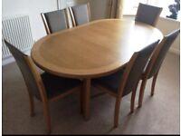 Unbelievable offer for immediate sale - SKOVBY FURNITURE DANISH DESIGN OAK DINING SET