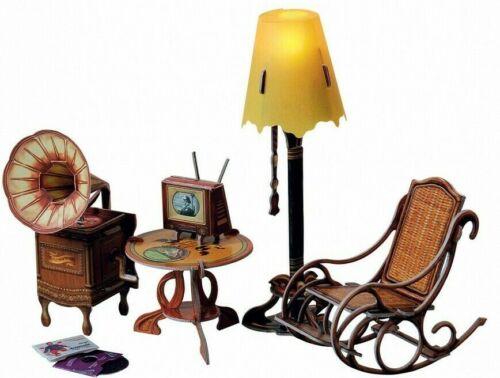 Furniture For Dolls Lamp Furnishing Dollhouse Miniature 1/12 Model CARDBOARD