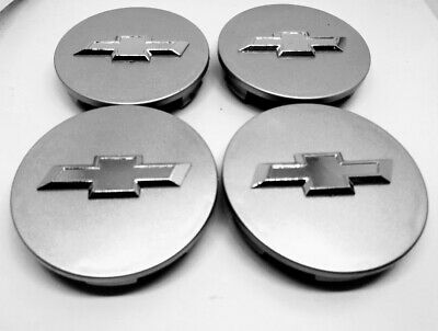 4X CHEVY Wheel RIM Center Hub Caps Silver 62MM AVEO CRUZE MALIBU IMPALA CAMARO