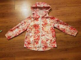 Zara floral print Wind cheater or rain coat size-5-6years 116cm