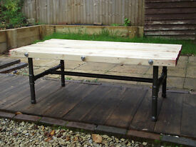 Steam Pipe and Recycled Timber Coffee Table