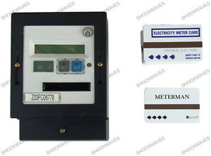 AMPY Cardmeter Prepayment Electric Slot Meter & £5 Cards Electricity 100A