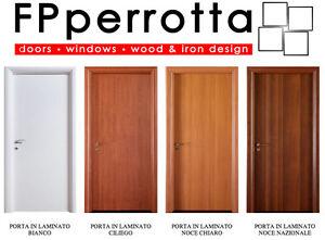 Porte interne in laminato bianco ciliegio tanganika for Porta a libro noce