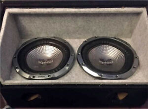 ^^** TWO SONY SUBS IN SHOWROOM PORTED BOX 1000 WATT AMP