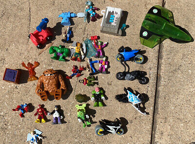 Fisher Price Imaginext DC Superhero & Vehicle Lot 12 Figures Includes Clayface