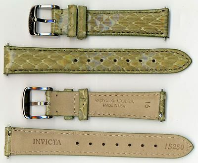 Invicta Genuine 16mm Green Cobra Leather Watch Strap Is250 Brand