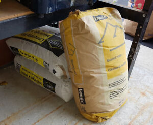 Free unopened 2 bags concrete mix and 1 bag sand mix
