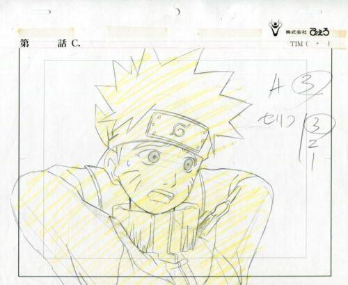 NARUTO Anime Cel Layout Sketch Set #34 Studio Pierrot