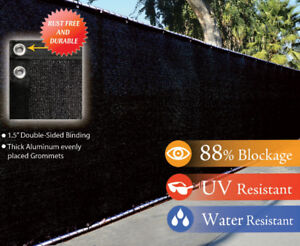 WINDSCREEN PRIVACY FENCE COVER MESH BLACK 6 5 8 4 FT
