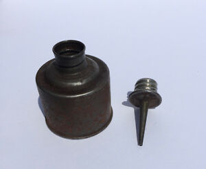 Antique miniature oil can, 48mm dia. 85mm tall Belleville Belleville Area image 5