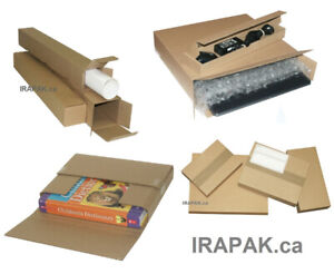 Shipping Boxes, Stay Flat Mailers, Square Tubes, Bubble Envelope