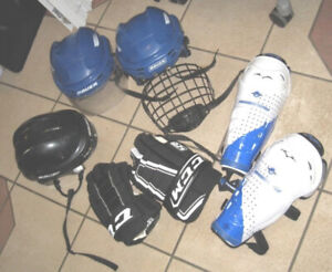 Used Kids/Junior Hockey protective Equipment, good condition