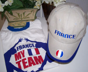 France 2010 Fifa World Cup T Shirt and France Soccer Cap
