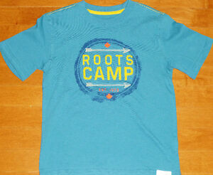 ~ Boys Size Small 5/6 Years ~ Roots Camp Tee ~ Like New