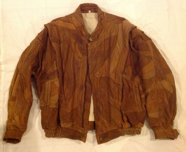 Patch Leather Jacket