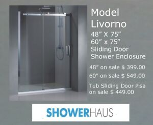 Tempered Glass Shower & Tub Sliding Doors w.10 mm Glass on sale
