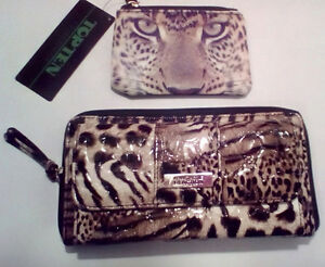 KENNETH COLE REACTION:  Animal Print Wallet + Coin....NEW