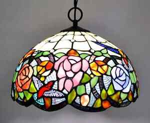 Looking for similar  Tiffany style stained glass hanging lamp