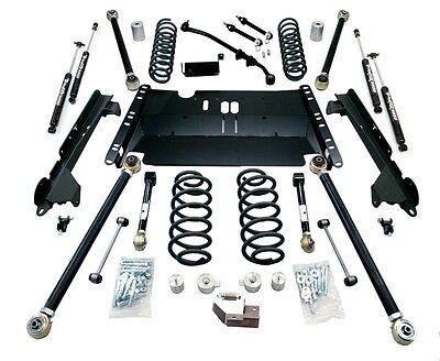 "TeraFlex Enduro LCG 4"" Long FlexArm Kit w/ 9550 Shocks 97-06 Jeep Wrangler TJ"