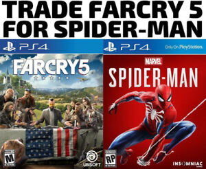 TRADE PS4 Farcry 5 for Spiderman (or others)