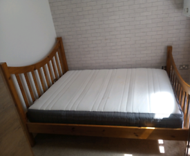FREE double bed frame and IKEA mattress