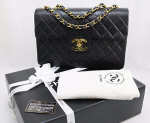 CHANEL XL JUMBO LAMBSKIN PURSE - AUTHENTIC