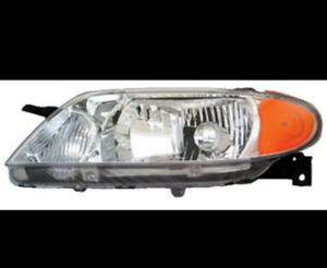 Headlight 01-03 Mazda Protege left headlamp (aluminum bezel)