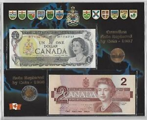 Canadian Note Replaced by Coins 1987 Looney and Tooney
