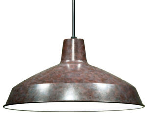 "Nuvo Lighting 76/662 Warehouse Pendant 16"" Shade, Old Bronze New"