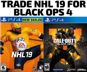 TRADE New Sealed PS4 NHL 19 for Black Ops 4 (or others)
