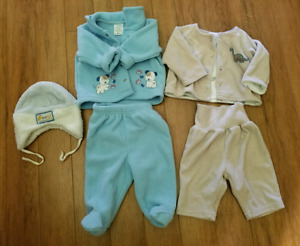 3 Baby boy fall suits with hats