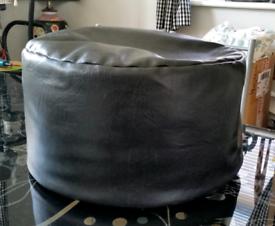 Black/Dark Brown Pouffe/Footstool