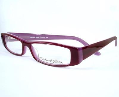 Michael Stars Eyeglasses Trendy Wild Grape Women 48-13-130 (Glasses Frames For Women Trendy)