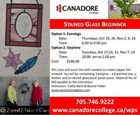 Stain Glass Beginner, Parry Sound, Canadore College