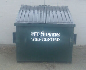 FRONT LOAD DUMPSTER WITH LOCKING METAL LID - USED