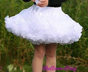 White-Girl-Pettiskirt-Skirt-Dance-Tutu-Petticoat-Party-Toddler-Sz-6-7-PP001A