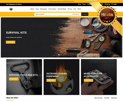 Dropshipping Website For Sale - Own A Survival Store Ecommerce Business.