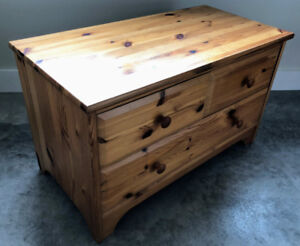 Small 3 drawer solid pine cabinet by Pine City Furniture