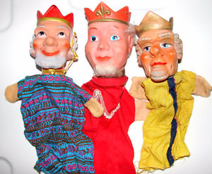 Vintage Puppets Children Toys.Hand Puppets.