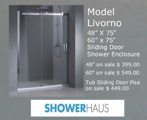 Tempered Glass Shower a.Tub Sliding Doors w.10 mm Glass on sale